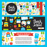 Back to School Horizontal Banners