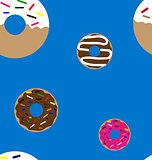 Doughnuts seamless pattern
