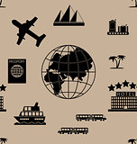 Tourism seamless pattern
