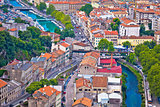 Town of Rijeka and Rjecina river view
