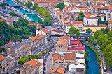 Town of Rijeka and Rjecina river view