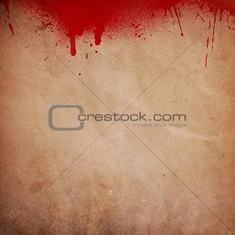Blood splattered grunge background