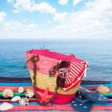 sunbathing accessories isolated on towel