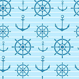 Seamless vector nautical pattern