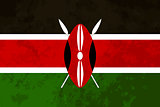 True proportions Kenya flag with texture