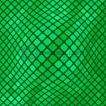 Green Diagonal Square PatternBackground