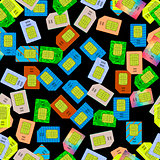 SIM Cards Seamless Pattern