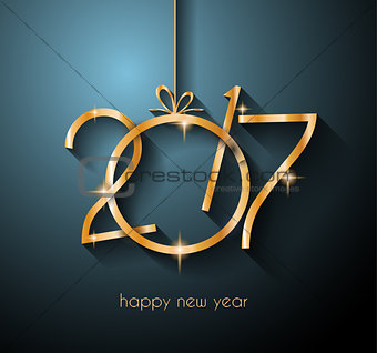 2017 Happy New Year Background for your Flyers and Greetings Card.