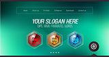 Minimal Website Home Page Design with Slider background