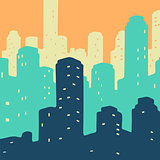 Vector Illustration City Doodle