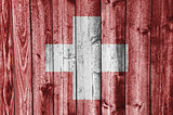 Flag on weathered wood