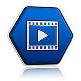 video player sign button 3D illustration