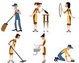 Domestic staff set