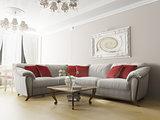 White sofa in modern interior