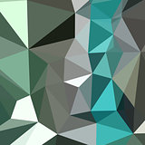 Persian Green Abstract Low Polygon Background
