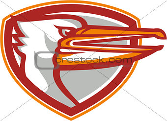Angry Pelican Head Shield Retro