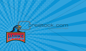 Business card Hawk Head Side Retro