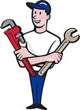 Handyman Spanner Monkey Wrench Cartoon