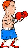 Boxer Fighting Stance Cartoon