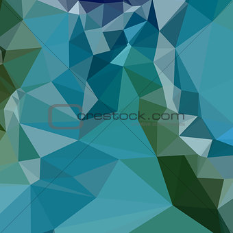 Bright Turquoise Blue Abstract Low Polygon Background