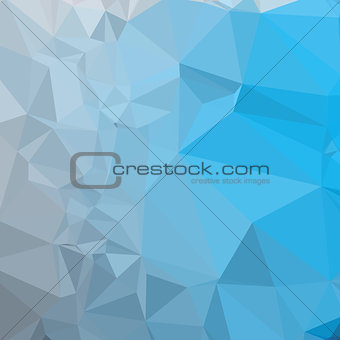 Capri Blue Abstract Low Polygon Background