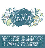 Summer beach pattern