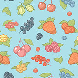 Seamless berries pattern