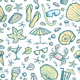 seamless sea creatures pattern