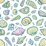 seamless summer shell pattern