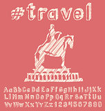 Travel concept with monument