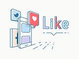 Social media concept design