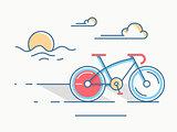 Sport bike line style