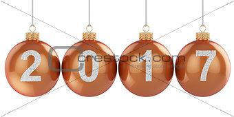 2017 christmas ball isolated