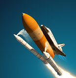 Space Shuttle Solid Rocket Boosters Separation