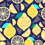 Bright pattern of lemons