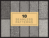 Ten Vector Seamless Black and White Organic Patterns