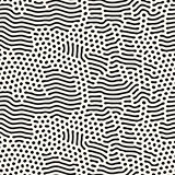 Vector Seamless Organic Rounded Jumble Lines Maze Pattern