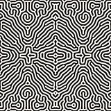 Vector Seamless Organic Rounded Jumble Lines Ethnic Pattern