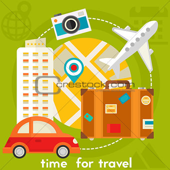 Time For Travel Concept Illustration