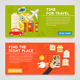 Time For Travel And Find The Right Place Concept Illustrations