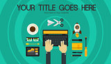 Blogging Concept Header Banner Illustration