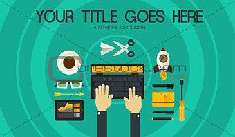 Blogging Concept Header Banner Illustration