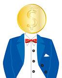 Golden coin instead of head