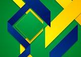 Vector bright background in Brazilian colors