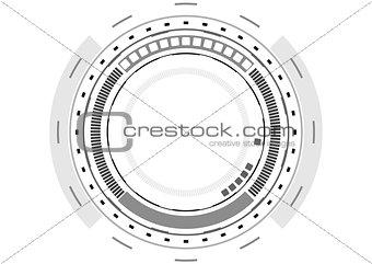 Grey technology futuristic HUD interface