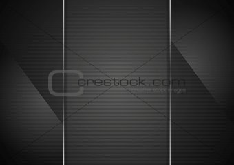 Black glass abstract background