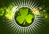 Green shamrock clover St. Patrick Day