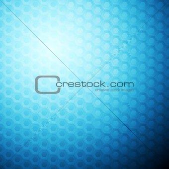 Blue abstract hexagonal texture background