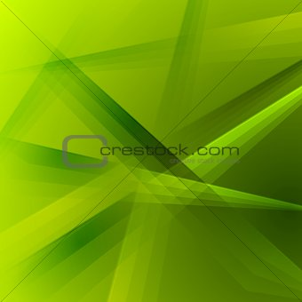 Abstract green shiny striped vector background