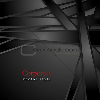 Black stripes abstract corporate background